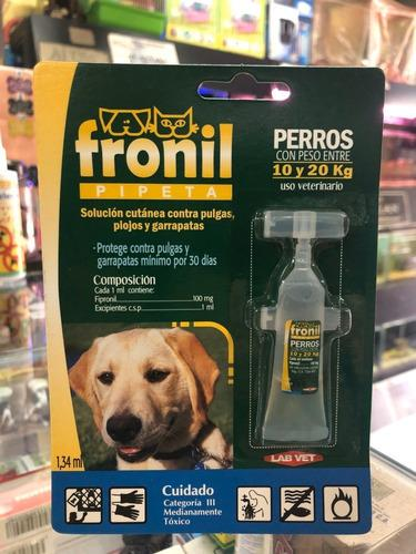 Pipeta Fronil Para Perros Con Peso Entre 10 Y 20 Kg