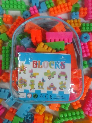 Bolso De Legos Pequeños Para Niños 80 Pza Juguet Didactico