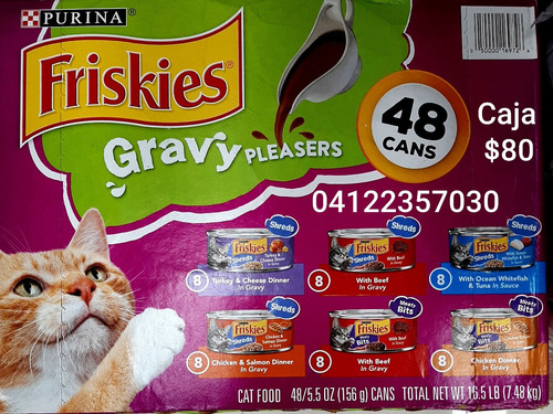 Friskies En Latas Alimento Humedo Para Gatos 156 Gr