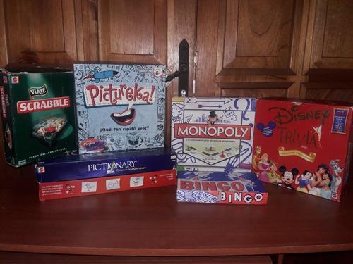 Juegos De Mesa Scrabble Monopolio Pictionary Pictureka