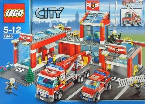 Lego City  Estación De Bomberos 600 Pzs(190usd)