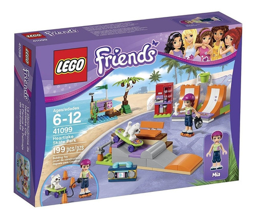 Lego Friends  El Parque De Patinaje 199 Pzs(25usd)