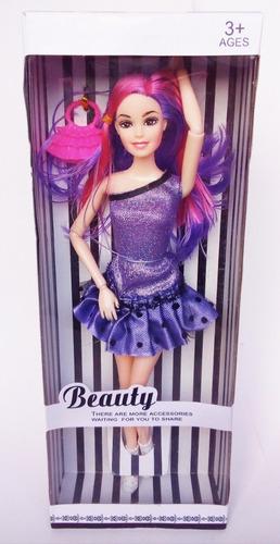 Muñeca Barbie Con Vestido, Articulada, Juguete Para Niña