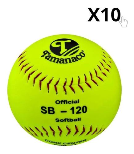 Pelota De Softbol Profesional Sb-120 12'' X 10 Unds Tamanaco