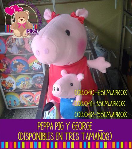 Peluche De Peppa Pig Y George Grande 55cm. Mayor Y Detal
