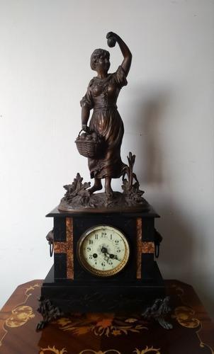 Reloj Antiguo Frances De Cuerda Louis Boname De Siglo Xix