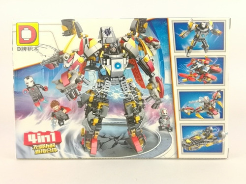 Super Hereos 4en1 Avengers. Robot De 480 Pcs