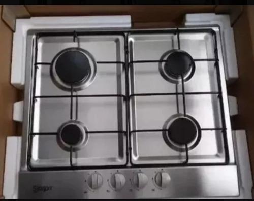 Tope De Cocina A Gas Nueva Acero Inoxidable 4 Hornillas