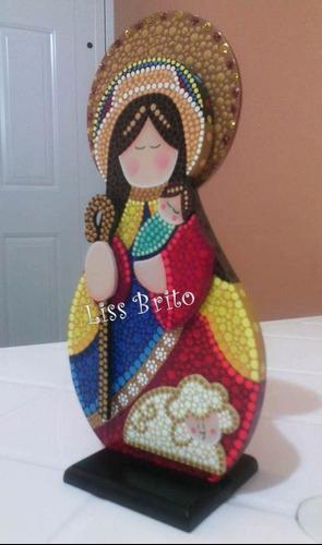 Virgen Divina Pastora En Mdf