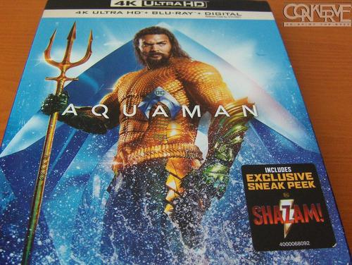 Aquaman 4k Blu-ray + Bluray + Digital Original Nuevo Sellado