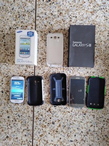 Combo Celulares Samsung Galaxy S3 Grande Y Mini S3 80 Verdes
