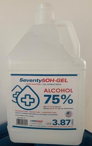 Gel Antibacterial Lubrikon Galon De  Lts 75% Alcohol