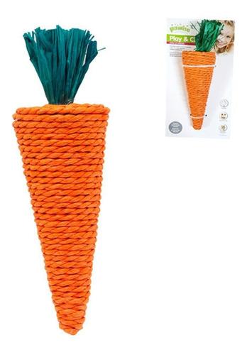 Juguete Masticable Roedor Zanahoria Borla Maíz 20cm