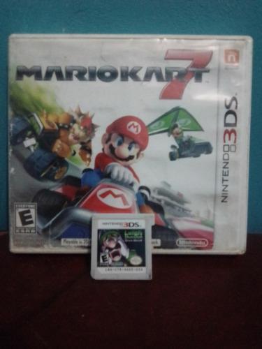 Mario Kart 7 Y Luigis Mansion Mark Moon Para 3ds