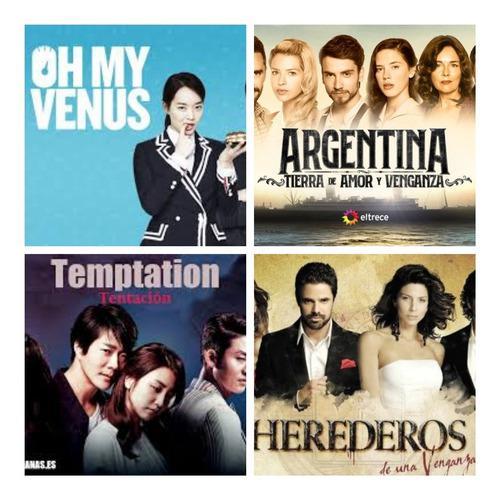 Telenovelas Series Argentinas Y Coreanas En Hd Combos De 5