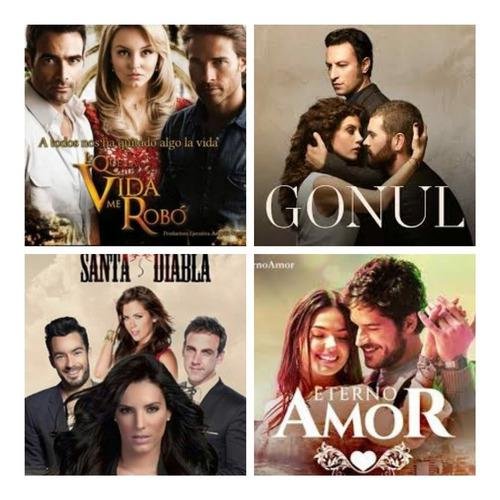 Telenovelas Y Series Brasileñas En Full Hd Combo De 5
