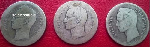 2 Monedas 2 Bs. Plata . Lei.835