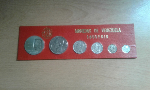 Colección De 6 Monedas De Plata Ley De Venezuela (igo.033)
