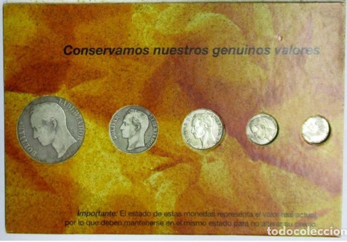 Coleccion Completa De 5 Monedas De Plata