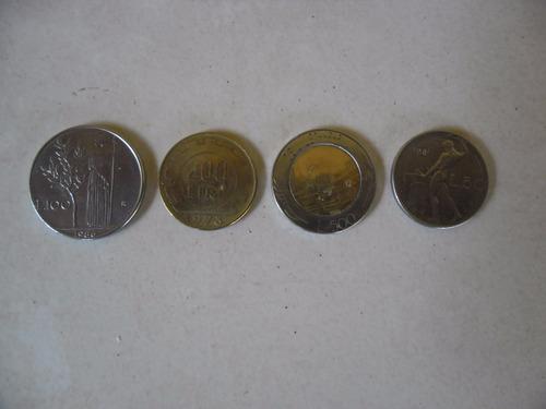 Coleccion De Cuatro Monedas L50,l100,l200 Y L500