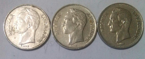 Combo De Monedas De 2 Bolivares Años