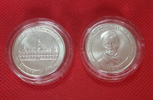 Moneda Bicentenario De José María Vargas. De Plata.