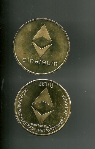 Moneda Conmemorativa Medalla Souvenir Ethereum (5d)