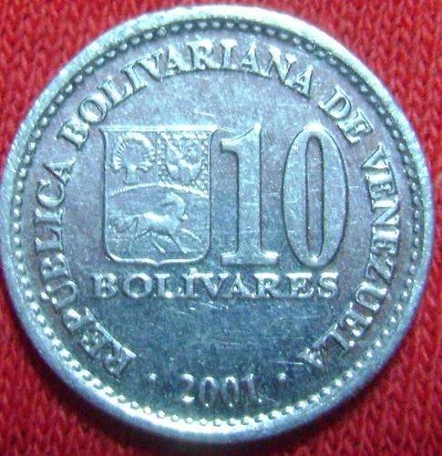 Moneda De 10 Bs Dos Variante Del  Bs. ._