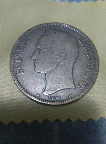 Moneda De 5 Bs De Plata Año