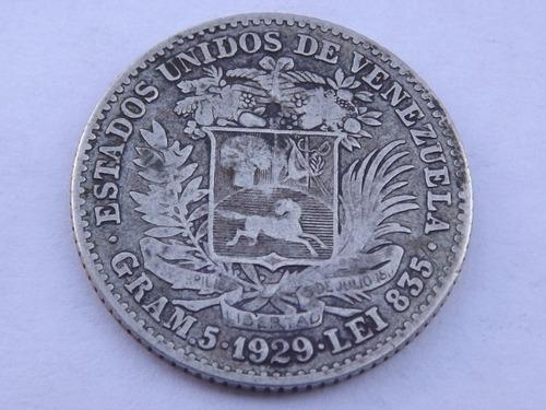 Moneda De Plata. 1 Bolívar. Venezuela. Año