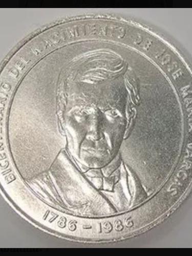 Moneda De Plata Bicentenario José María Vargas Año