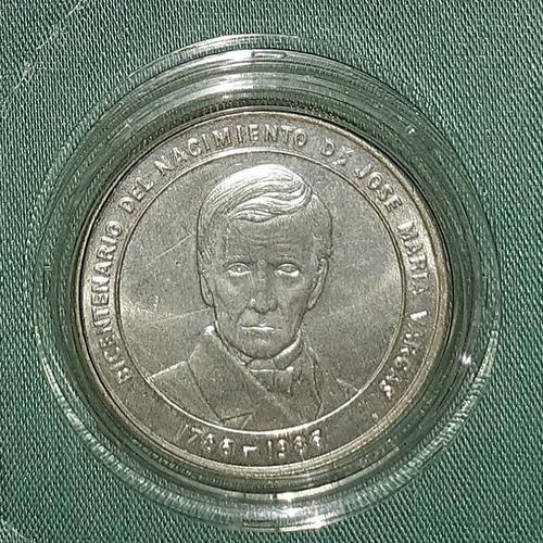 Moneda De Plata Coleccionable De José María Vargas