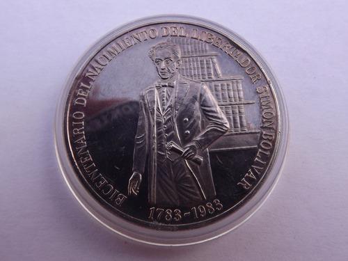 Moneda De Plata Del Libertador Simón Bolívar ()