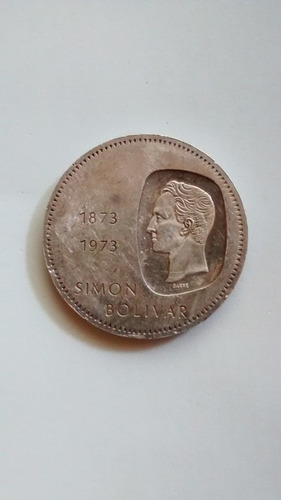 Moneda De Plata Doblon Centenario Simon Bolivar
