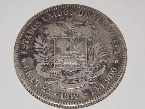 Moneda De Plata. Fuerte 5 Bs Bolívares. Año