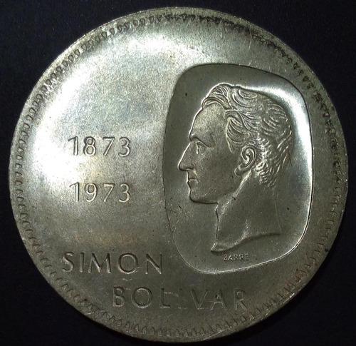 Moneda Plata Centenario De La Efigie Del Libertador Doblón