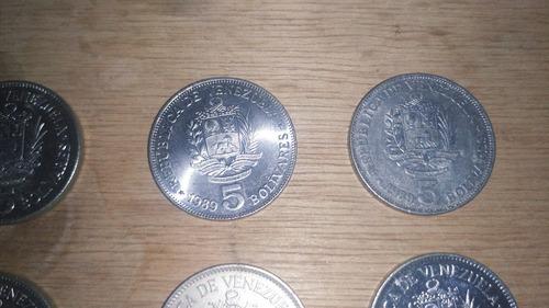 Monedas Antiguas De 5 Bolívares  Y Una De