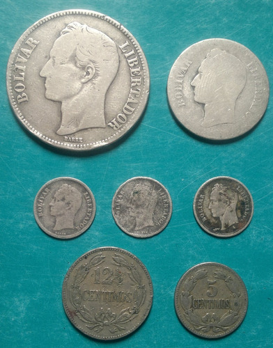 Monedas Antiguas Fuerte De Plata  En Combo!!! 40verdes!!