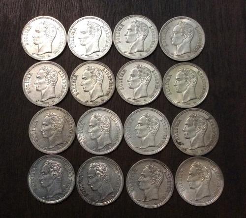 Monedas De 1 Bolivar Plata Año