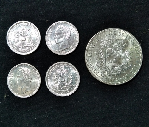 Monedas De 1 Bolívar De Plata