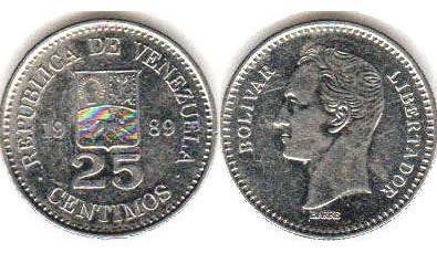 Monedas De 25 Centimos  Diseño C