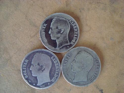 Monedas De 5 Bolívares De Plata -