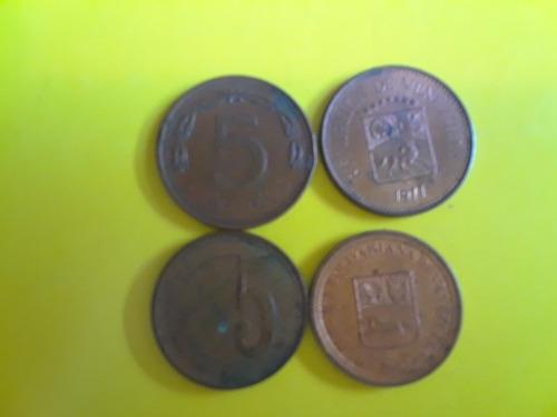 Monedas De 5 Centimos Cobre Fuera De Circulacion
