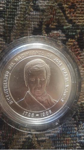 Monedas De Plata Del Bicentenario De José María Vargas