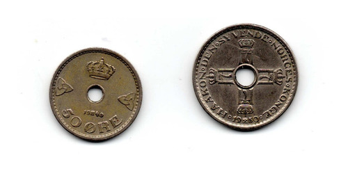 Monedas Noruega Antiguas Ore Corona Coleccion Cod2a