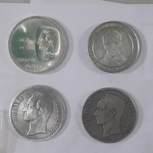 Monedas Venezolanas Un Doblón Dos Fuertes Y Bicentenario
