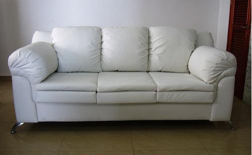Sofa 3 Puestos Bipiel O Tela,el Mejor Precio/calidad.