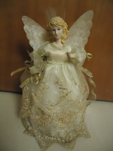 Angel Para El Arbol De Navidad De Porcelana