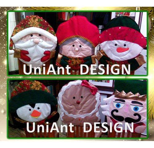 Forros Para Sillas Navideños Cubre Navidad Luces Cojines