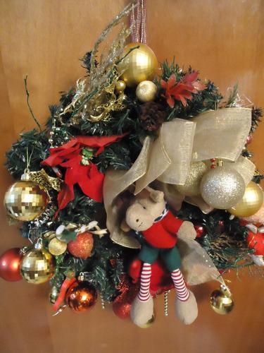 Guirnalda Corona De Navidad Adorno De Puerta Full Accesorios